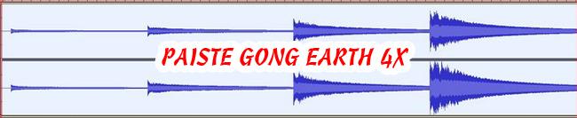 11 PAISTE GONG EARTH 4X 432 Hz